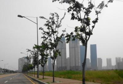 Outside of Songdo International City