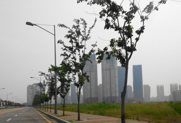 Outside of Songdo International City