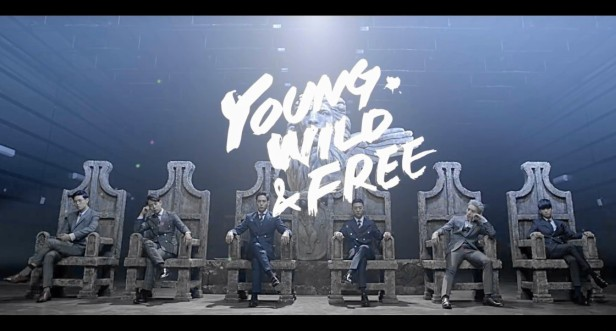 B.A.P Young Wild Free - banner