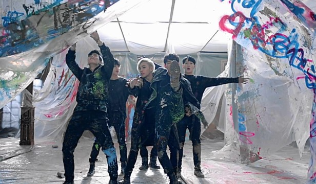 B.A.P Young Wild Free - painting