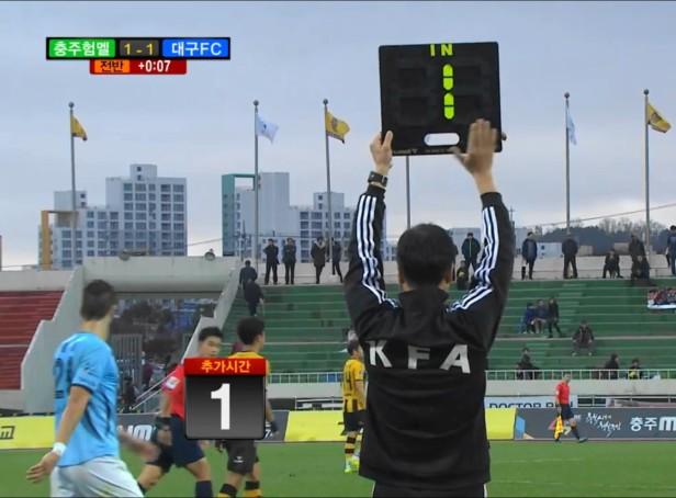 Chungju Hummel vs. Daegu K League added time