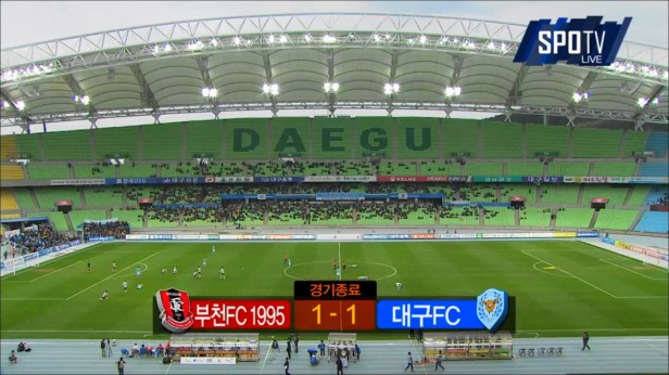 Daegu vs. Bucheon 1995 - Result