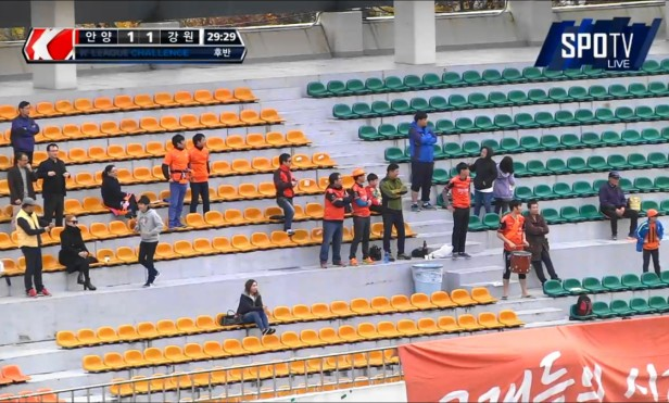 FC Anyang vs. Gangwon fans K League Nov 15