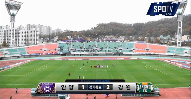 FC Anyang vs. Gangwon fans K League Result