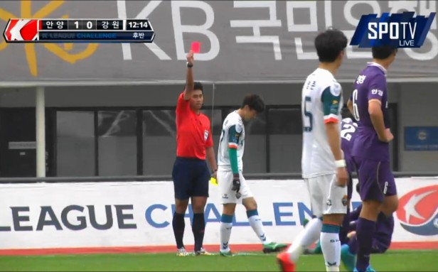 FC Anyang vs. Gangwon Red Card K League Nov 15