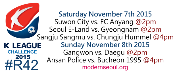 K League Challenge 2015 Round 42 Nov 7th 8th