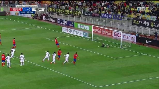 South Korea vs. Myanmar World Cup 2018 missed penalty