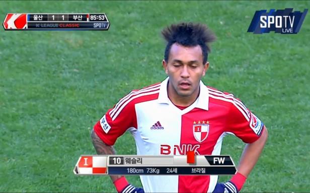 Ulsan vs. Busan - red Card