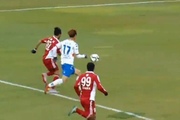 Busan I'Park vs. Suwon City 2nd leg attacked