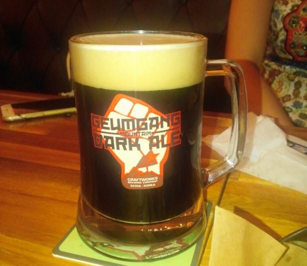 Craftworks Seoul geumgang mountain dark ale draft