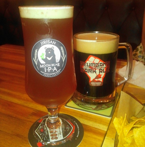 Craftworks Seoul jirisan IPA geumgang dark ale