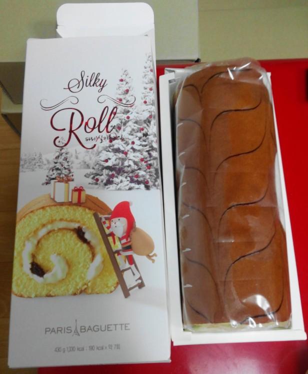 Paris Baguette Christmas Roll Cake 2015