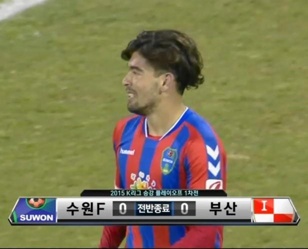 Suwon City FC vs. Busan I'Park - K League Playoff half Time japa