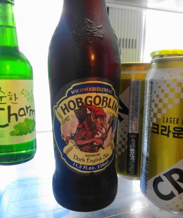 Wychwood Hob Goblin Beer Korea fridge