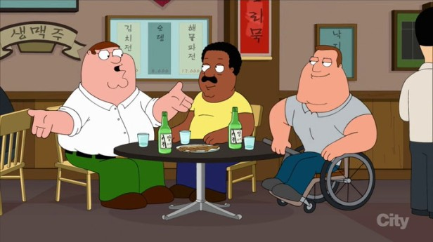 Family Guy Korean Episode Drinking Soju