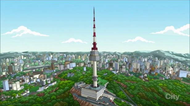 Family Guy Korean Episode Seoul Tower