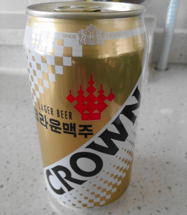 Korean Crown Beer 2016 330 can