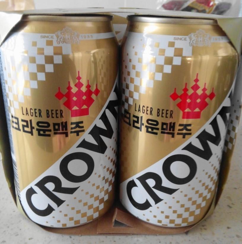 Korean Crown Beer 2016 cans pack