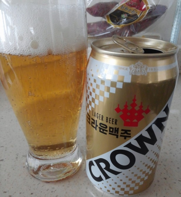 Korean Crown Beer 2016 poured