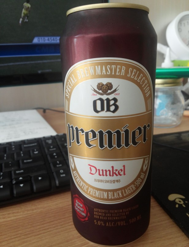 OB Premier Dunkel full can