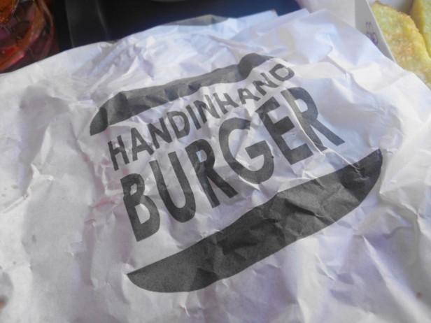 Hand in hand burgers Hongdae Wrapper Logo