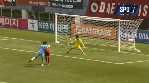 K League Challenge 26-3 Eder Goal Daegu