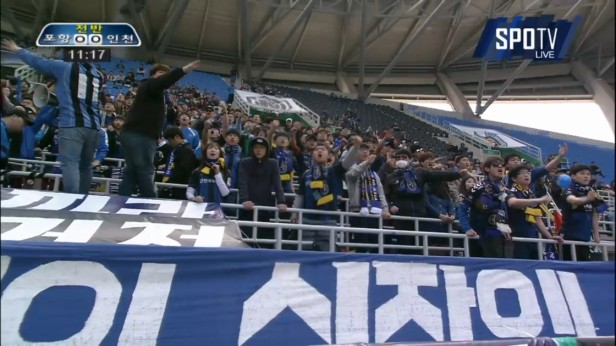 K League Classic 20-3 Incheon United fans
