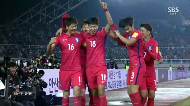South Korea vs. Lebanon March 2016 goal