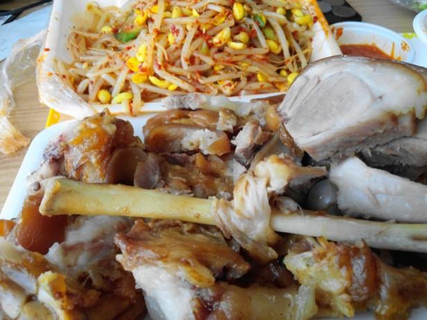 Jokbal Korean Food pig's trotters