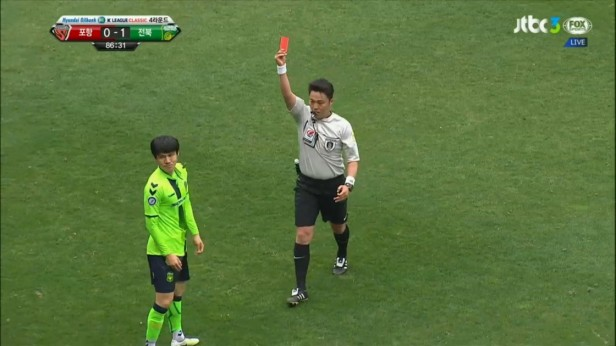 K League April 10th Kim Chang-Soo Red Card