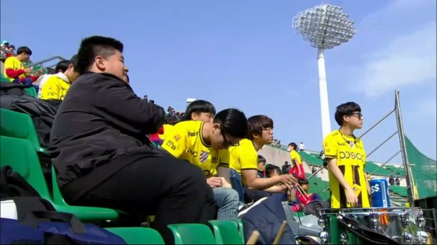 K League April 17th Jeonnam Dragons Fans Half Time