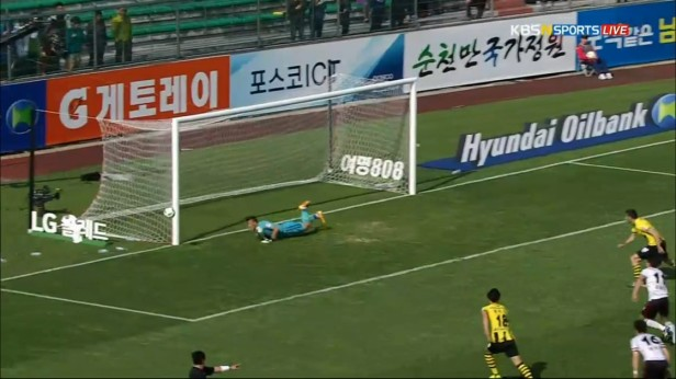 K League April 17th penalty save gwangju