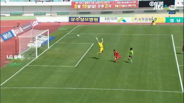 K League April 24 2016 Sangju v Jeonbuk