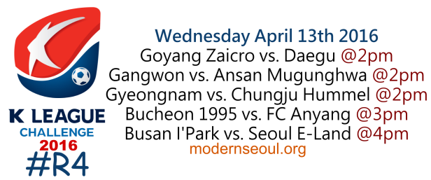 K League Challenge 2016 Round 4 April 13th