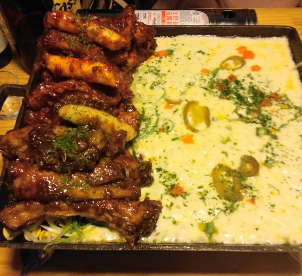 Korean Style Spicy Ribs and Cheese Incheon