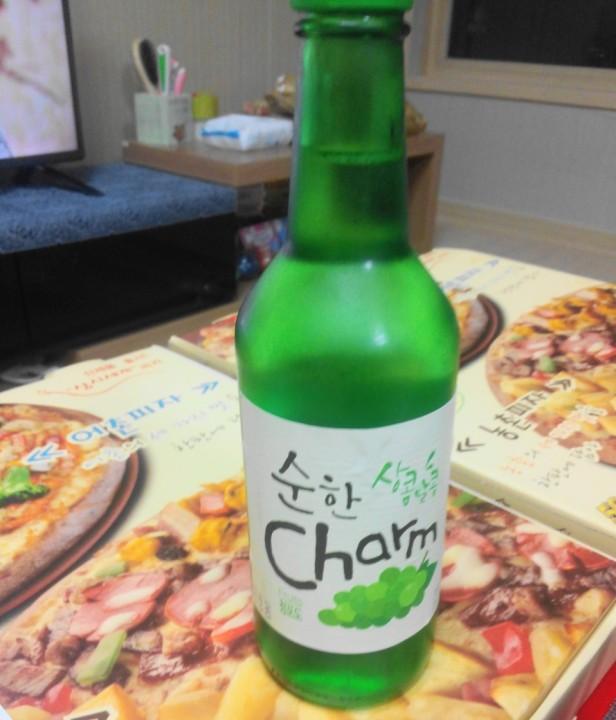 Grape Soju bottle korea