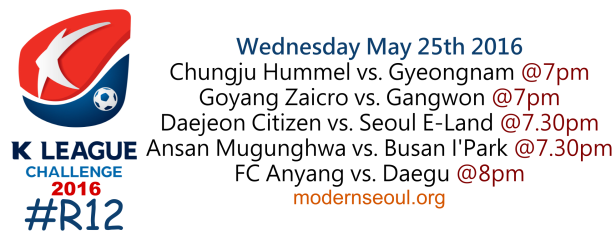 K League Challenge 2016 Round 12 May 25