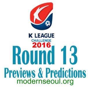 K League Challenge 2016 Round 13 banner