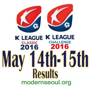 K League Classic 2016 Challenge Results banner may 14 15