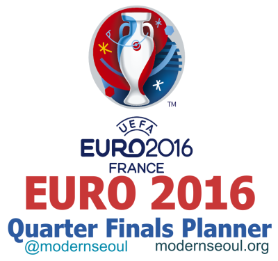 Euro 2016 Quarter Finals Planner