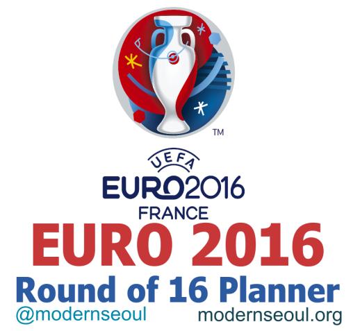 Euro 2016 Round of 16 Planner