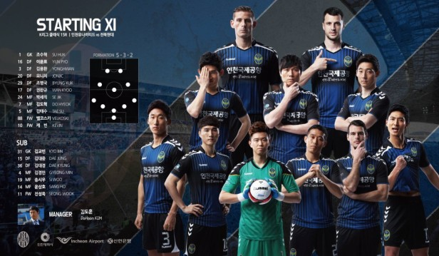 Incheon United v Jeonbuk Hyundai June 18