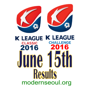 K League Classic 2016 Challenge Results banner june 15