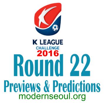 K League Challenge 2016 Round 22 banner