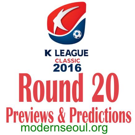 K League Classic 2016 Banner Round 20