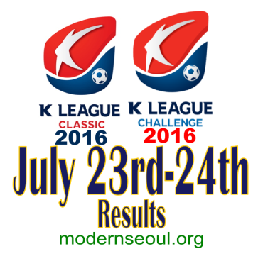 K League Classic 2016 Challenge Results banner july 23 24