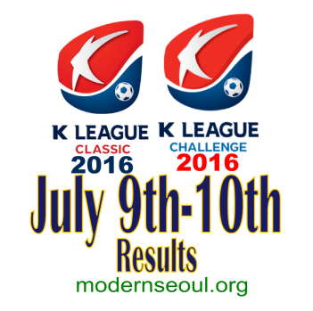 K League Classic 2016 Challenge Results banner july 9th 10th