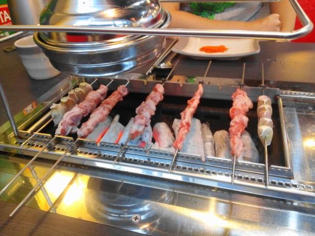 Lamb Kebab Restaurant Incheon cooking skewers