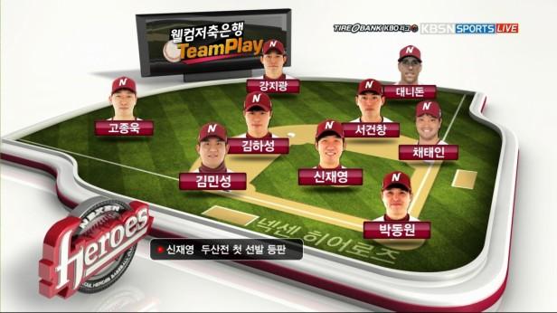 Nexen Heroes Lineup KBSN Sports TV 2016