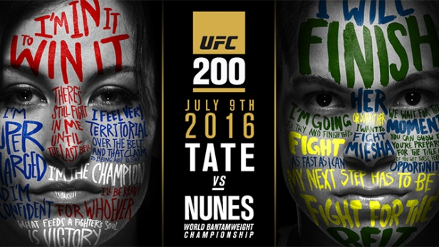 UFC 200 July 9th Tate Nunes Poster